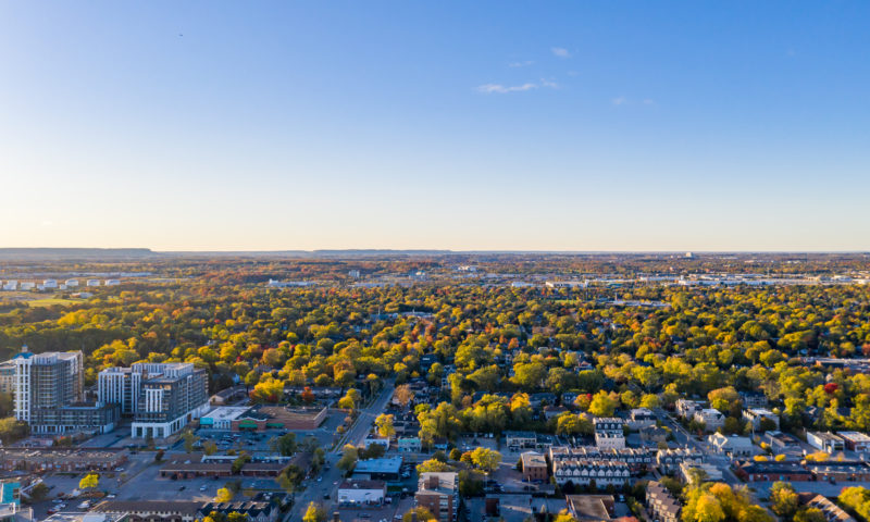 Aerial view of Bronte Creek in Oakville